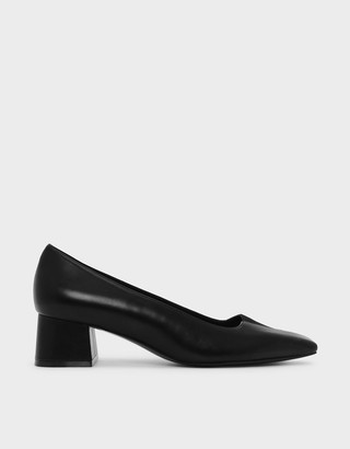 Charles & Keith Trapeze Heel Pumps