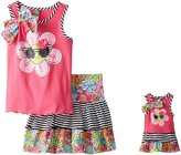 """Dollie & Me Little Girls' """"Rosie"""" 2-Piece Outfit with Doll Outfit"""