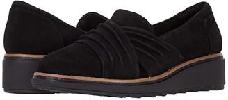 Clarks Sharon Villa (Black Suede) Women's Shoes