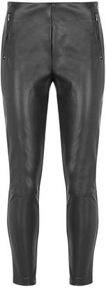 Mint Velvet Faux Leather Tregging - Black