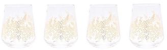 Sara Miller for Portmeirion Set of 4 Stemless Wine Glasses