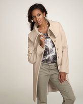 Petite Wool/Angora Oversized Collar Long Coat