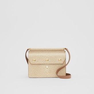 Burberry Mini Fish-scale Print Title Bag with Pocket Detail