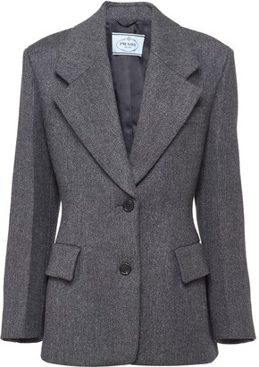 Prada Single-Breasted Fitted Jacket