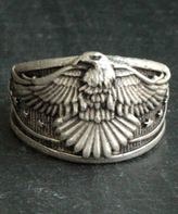 Nautilus Silvertone Eagle Adjustable Ring
