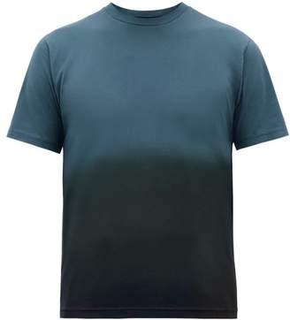 Sunspel Ombre Cotton-jersey T-shirt - Mens - Blue