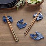 Crate & Barrel Fish Chopstick Rests, Set of 4