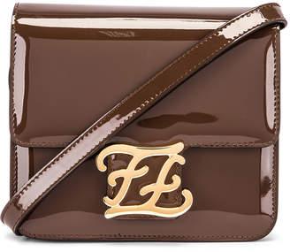 Fendi Karligraphy Mini Bag in Brown | FWRD