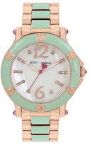 Betsey Johnson Blissful Mint Enamel Watch