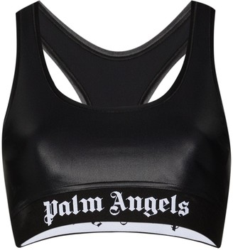 Palm Angels Logo-Print Racerback Sports Bra