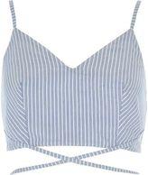 River Island Womens Blue stripe print strappy cami bralet