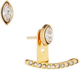 Vita Fede Marquise Crystal Jacket Earrings, Gold