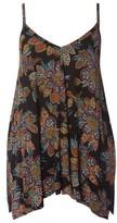 Evans Plus Size Women's Dotty Floral Handkerchief Hem Camisole
