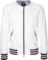 Loveless - striped-cuff bomber jacket - men - Cotton/Polyester/Polyurethane - 2