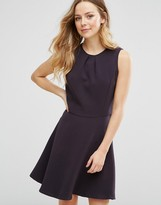 Lavand Strutured Skater Dress