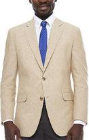 STAFFORD Stafford Linen Cotton Sand Sport Coat- Classic Fit