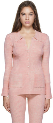 Live The Process Pink Rib Marled Cardigan