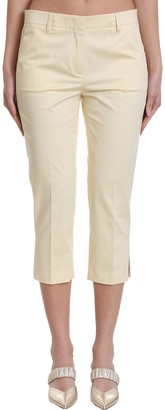 Mauro Grifoni Pants In Beige Cotton