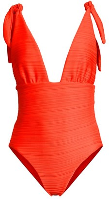 Mara Hoffman Daphne Ruched One-Piece Swimsuit