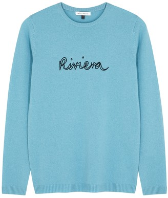 Bella Freud Riviera blue cashmere jumper