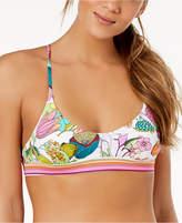 Trina Turk Key West Botanical Printed Halter Bralette Bikini Top