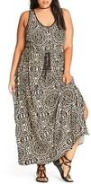 City Chic Plus Size Women's Summer Party Maxi Dress