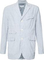 Engineered Garments seersucker stripe blazer - men - Cotton/Polyester - M