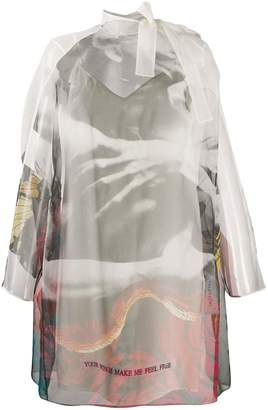 Valentino sheer printed shift dress