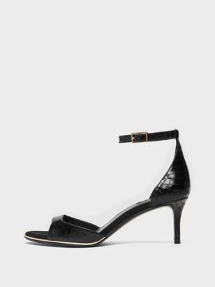 DKNY Women's Giselle Ankle Strap Sandal - Black - Size 6