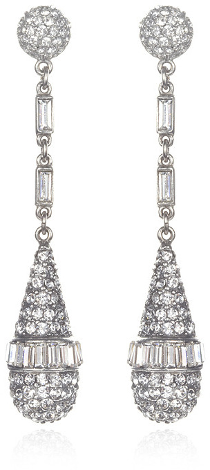 Ben-Amun Long Crystal Teardrop Earrings
