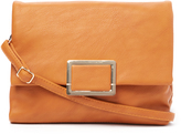 Kathy Ireland Brown Buckle Crossbody Bag