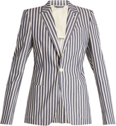 CONNOLLY Striped single-breasted cotton jacket