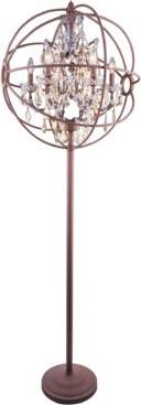 """Rosdorf Park Mendelson 71"""" Candelabra Floor Lamp Base Finish: French Gold"""