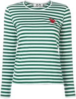 Comme des Garcons striped longsleeved T-shirt - women - Cotton - S