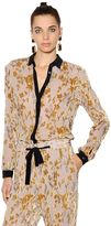 Etro Floral Viscose & Silk Devore Shirt