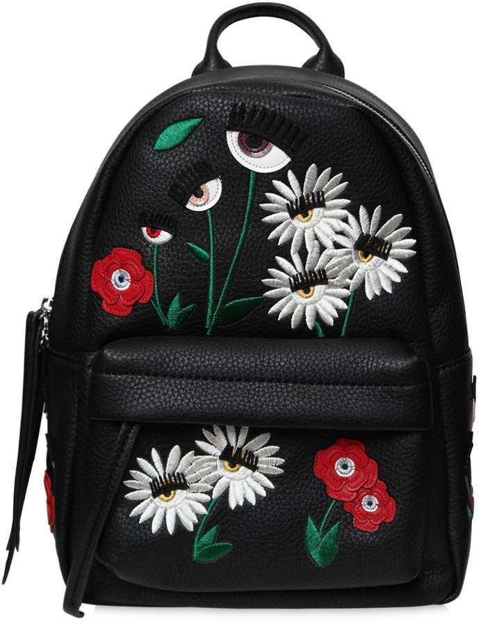 Chiara Ferragni Small Daisy Faux Leather Backpack