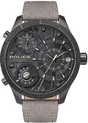 Police Unisex Adult Analogue Quartz Watch with Leather Strap PL15662XSQS.02