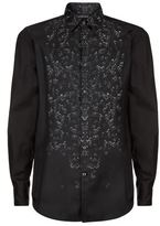 Just Cavalli Silk Front Safety Pin Print Shirt