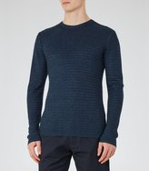 Reiss Reiss Tucan - Wool And Linen Jumper In Blue, Mens
