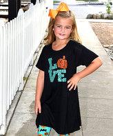 Beary Basics Black 'Love' Tunic Dress - Toddler & Girls