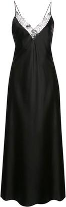 Anine Bing Katy lace-trimmed silk dress