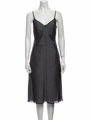 Prada Mohair Midi Length Dress Grey
