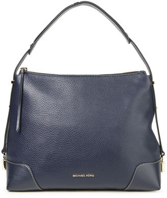 MICHAEL Michael Kors Embellished Pebbled-leather Shoulder Bag