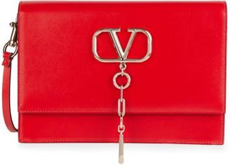 Valentino VChain Leather Crossbody