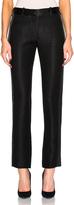 Victoria Beckham Sable Wool Satin Tuxedo Trousers