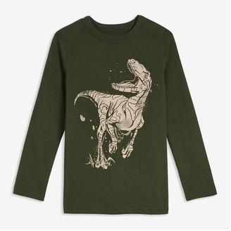 Joe Fresh Kid Boys' Long Sleeve Graphic Tee, Army Green (Size XL)