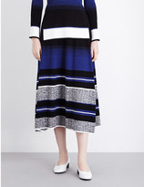 Sportmax Terzo striped knitted midi skirt
