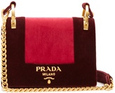 Prada Pattine velvet shoulder bag