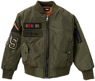 Hudson Jeans Military Patch Bomber Jacket (Little Boys)