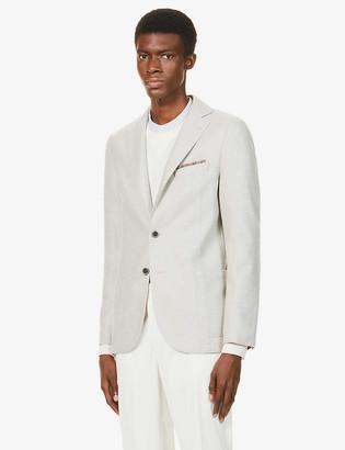 Eleventy Single-breasted wool blazer